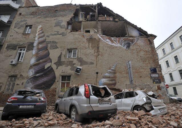 Następstwa trzęsienia ziemi w Zagrzebiu w Chorwacji