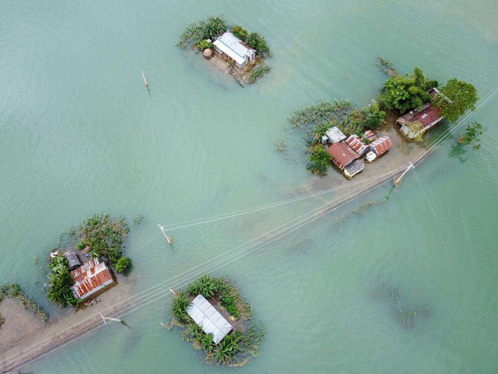 Następstwa powodzi monsunowej w Sunamganj w Bangladeszu