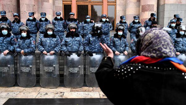 Akcja protestu w Armenii - Sputnik Polska