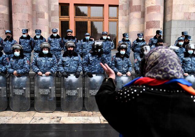 Akcja protestu w Armenii.