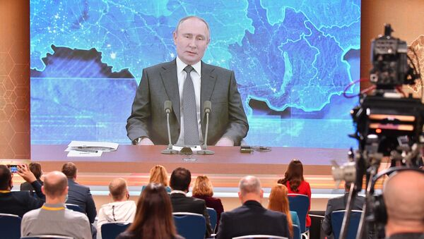 Coroczna konferencja prasowa Władimira Putina - Sputnik Polska