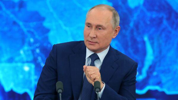 Konferencja prasowa prezydenta Rosji  - Sputnik Polska
