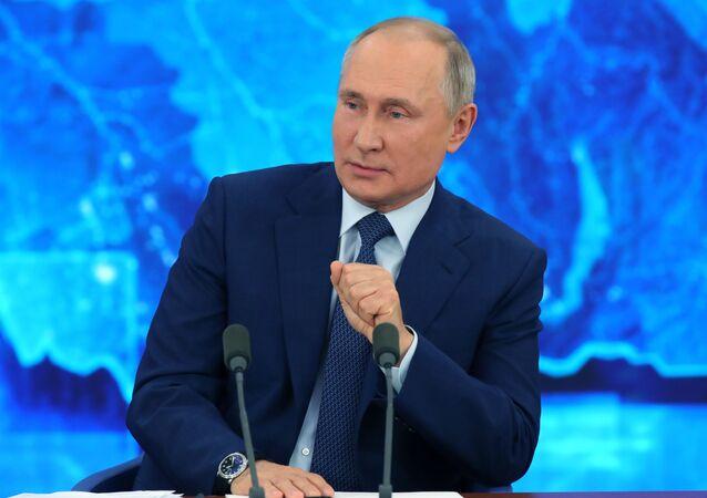 Konferencja prasowa prezydenta Rosji