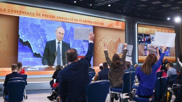 Doroczna konferencja prasowa Władimira Putina - Sputnik Polska