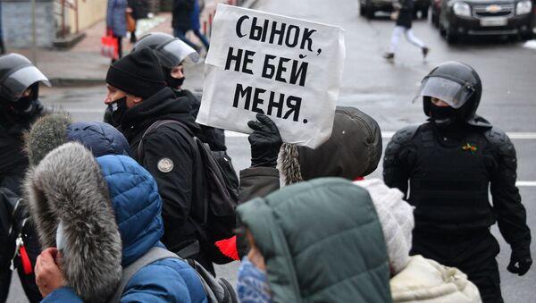 Protesty opozycji w Mińsku - Sputnik Polska