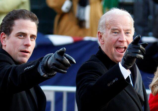 Prezydent elekt Stanów Zjednoczonych Joe Biden i jego syn Hunter