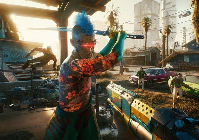 Kadr z gry komputerowej Cyberpunk 2077