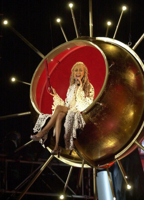 Christina Aguilera na premii Grammy w 2001 roku - Sputnik Polska