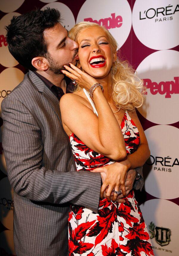 Christina Aguilera z mężem Jordanem Bratmanem, 2006 rok - Sputnik Polska