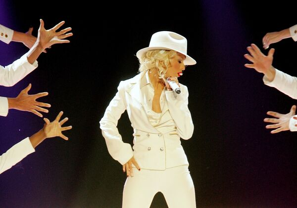 Christina Aguilera w Las Vegas, 2007 rok - Sputnik Polska