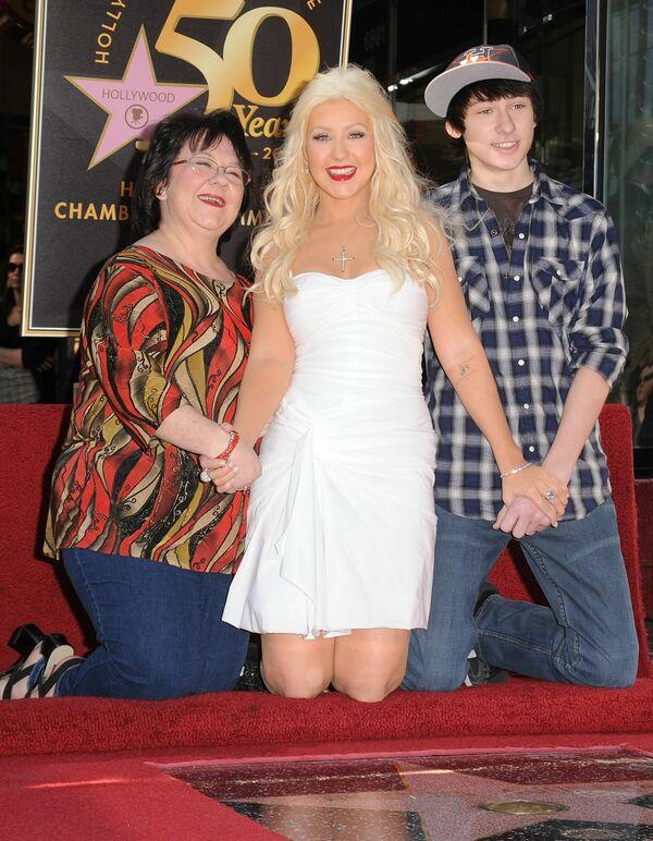 Christina Aguilera z matką i bratem - Sputnik Polska