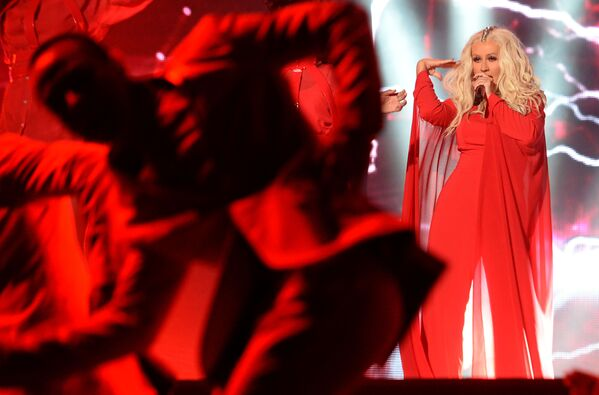 "Christina Aguilera podczas World Music Festival ""Mawazine"" w 2016 roku - Sputnik Polska"