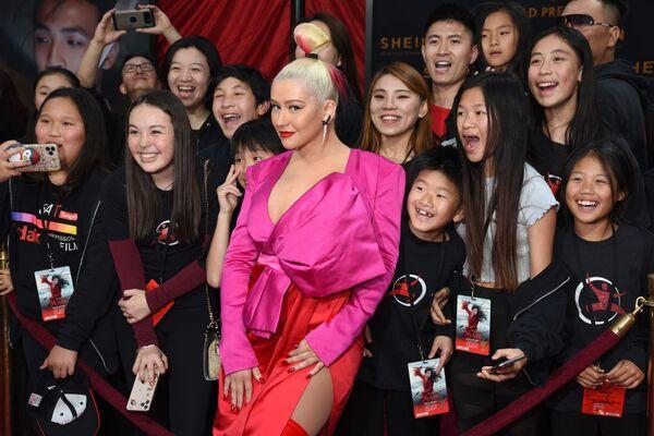 Christina Aguilera podczas premiery filmu Mulan, 2020 rok - Sputnik Polska