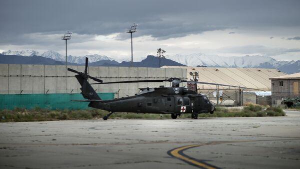 Baza lotnicza Bagram Sił Powietrznych USA w Afganistanie. - Sputnik Polska
