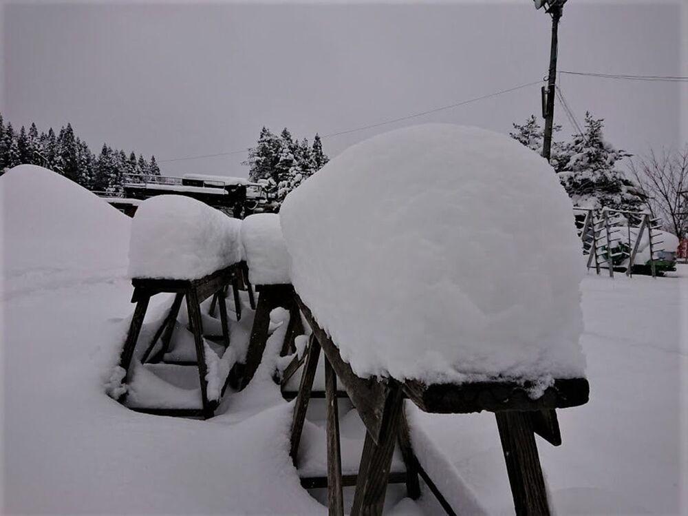 Obfite opady śniegu w Japonii.