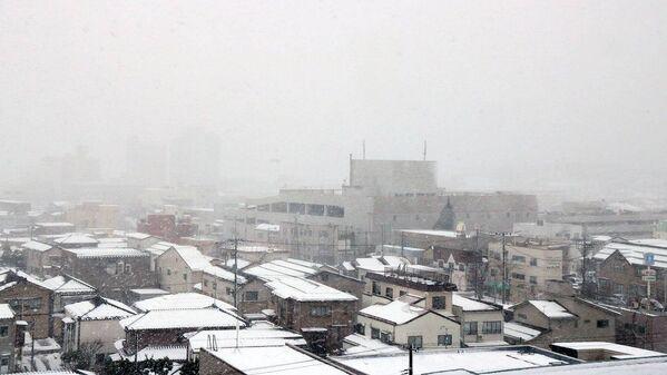 Opady śniegu w japońskim mieście Kashiwazaki - Sputnik Polska