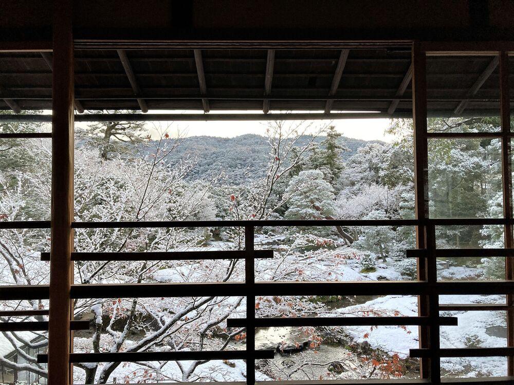 Zasypane śniegiem Kioto.
