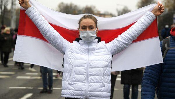 Protesty opozycji w Mińsku. - Sputnik Polska