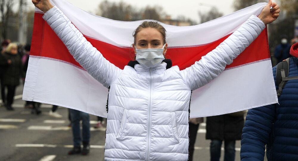 Protesty opozycji w Mińsku.
