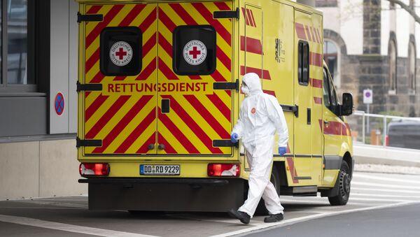 Pogotowie ratunkowe w Szpitalu Uniwersyteckim w Dreźnie, Niemcy - Sputnik Polska