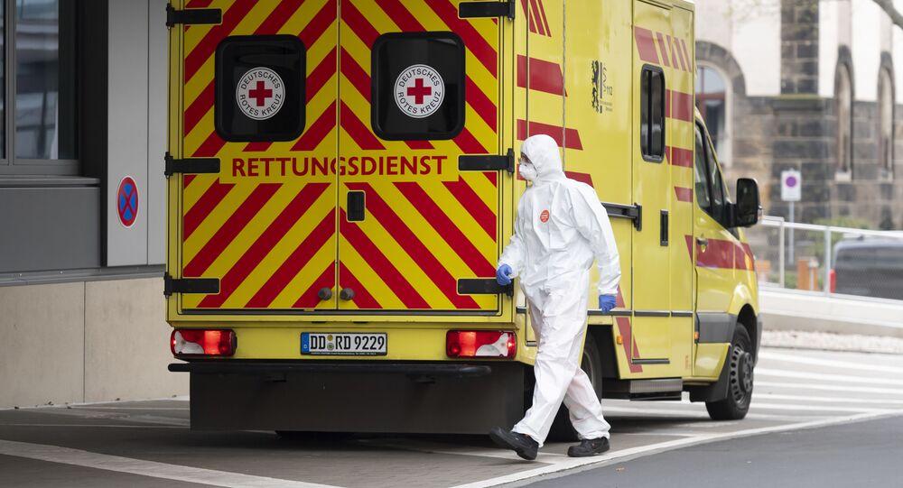 Pogotowie ratunkowe w Szpitalu Uniwersyteckim w Dreźnie, Niemcy