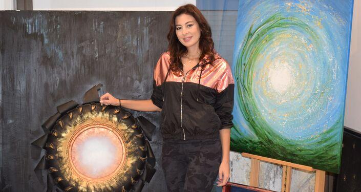 Libańska artystka Hayat Nazer