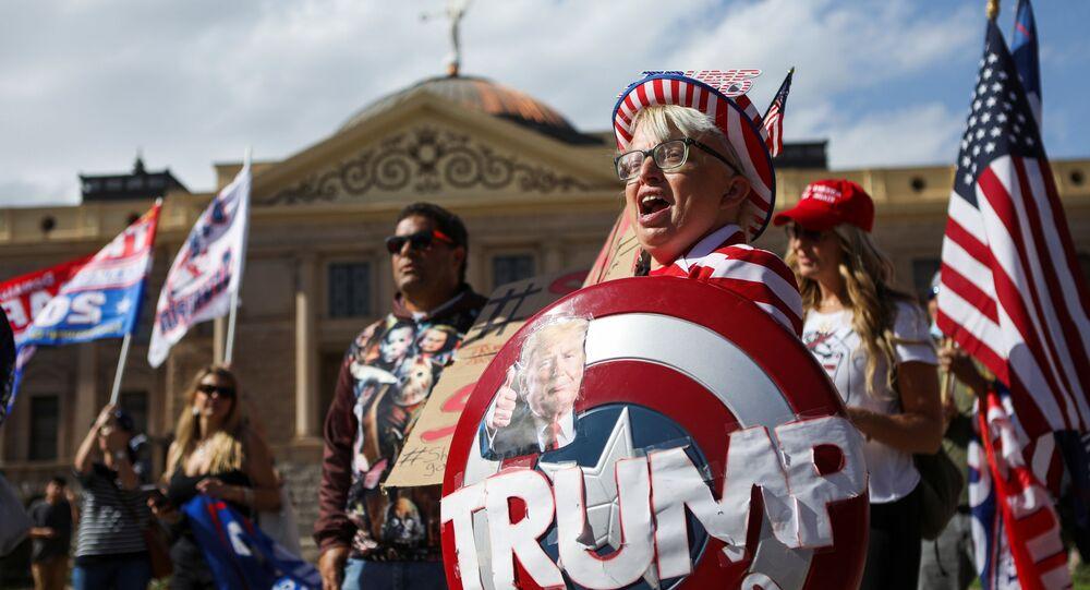 Marsz zwolenników Trumpa