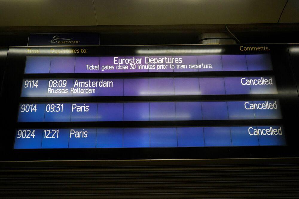 Odwołane loty z Londynu