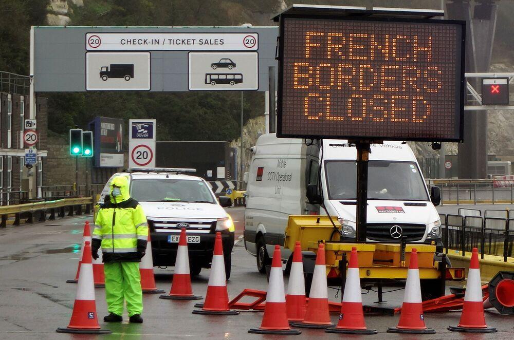 Zamknięcie francuskiej granicy na południowym wschodzie Anglii