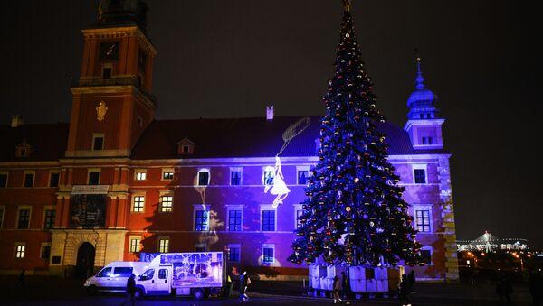 Świąteczne dekoracje w Warszawie - Sputnik Polska