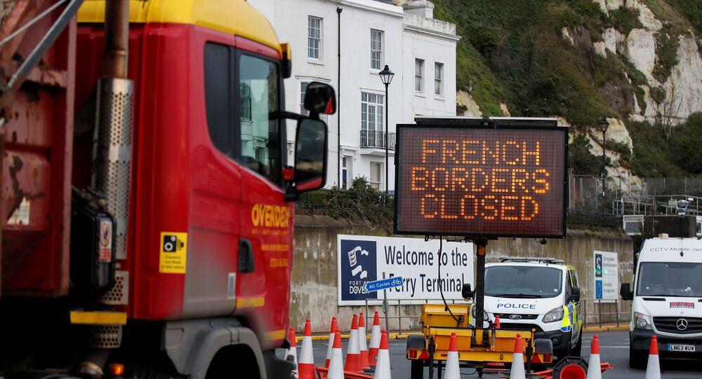 Napis francuska granica jest zamknięta w Dover