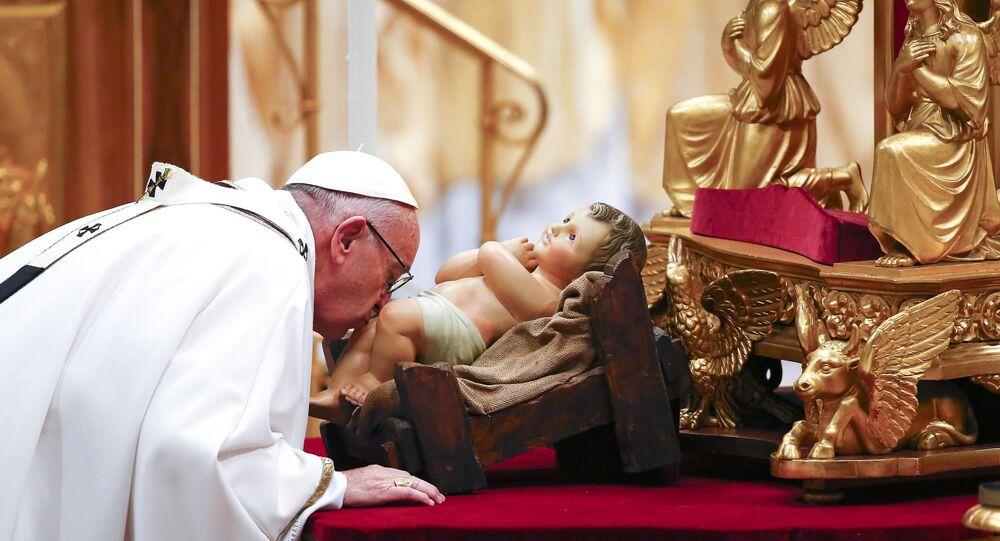 Msza wigilijna pod przewodnictwem Papieża Franciszka w bazylice Świętego Piotra