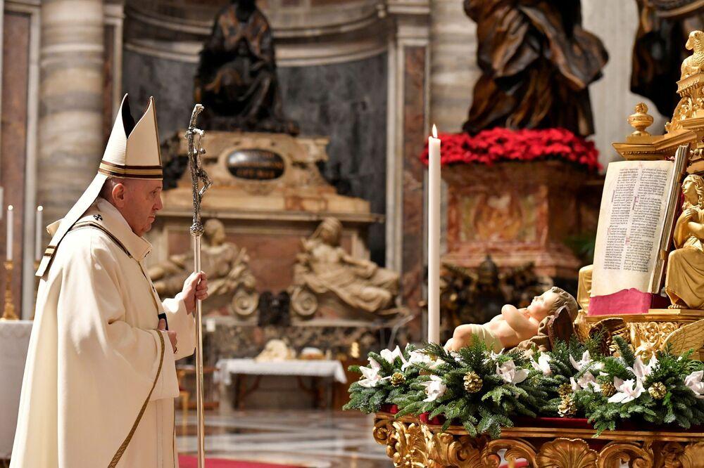 Pasterka bożonarodzeniowa w Watykanie 2020
