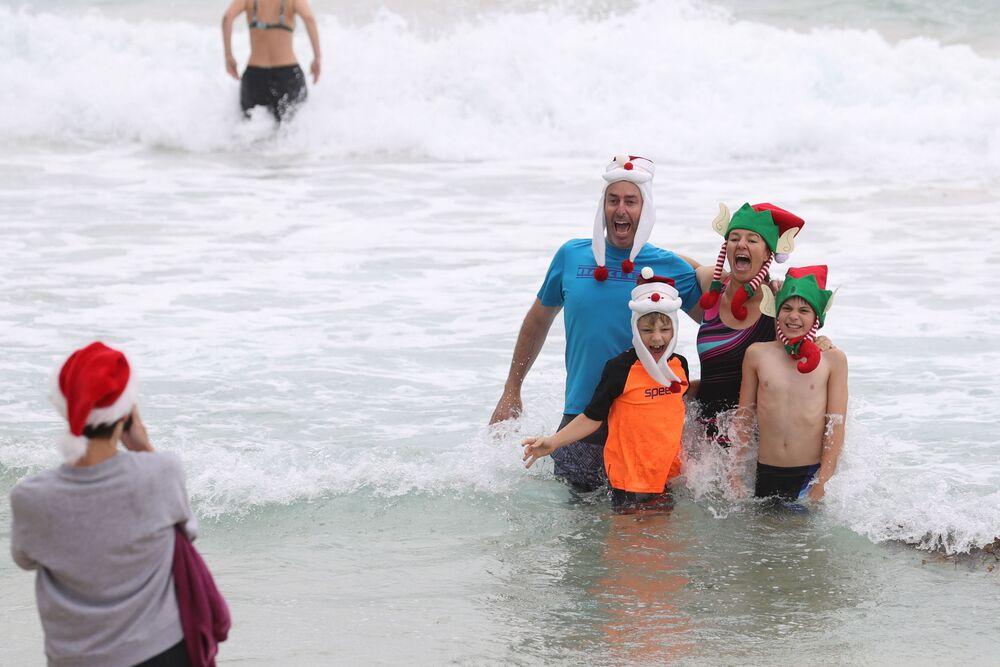 Święto Bożego Narodzenia na plaży w Sydney