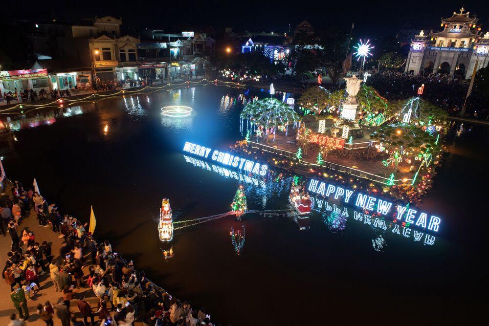 Świąteczna atmosfera we Wietnamie