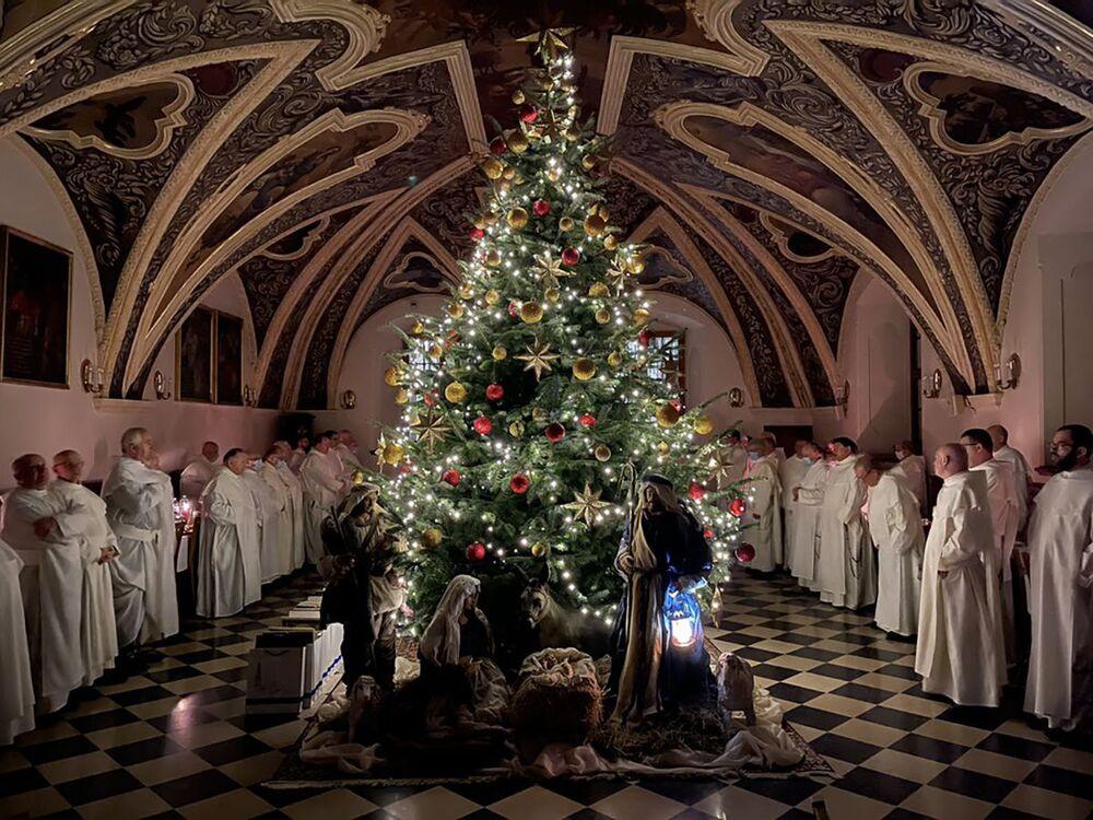 Wigilia w klasztorze w Jasnej Górze w Polsce