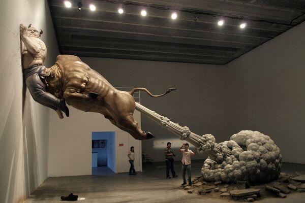 Rzeźba chińskiego artysty Chena Wenlinga What You See Might Not Be Real - Sputnik Polska