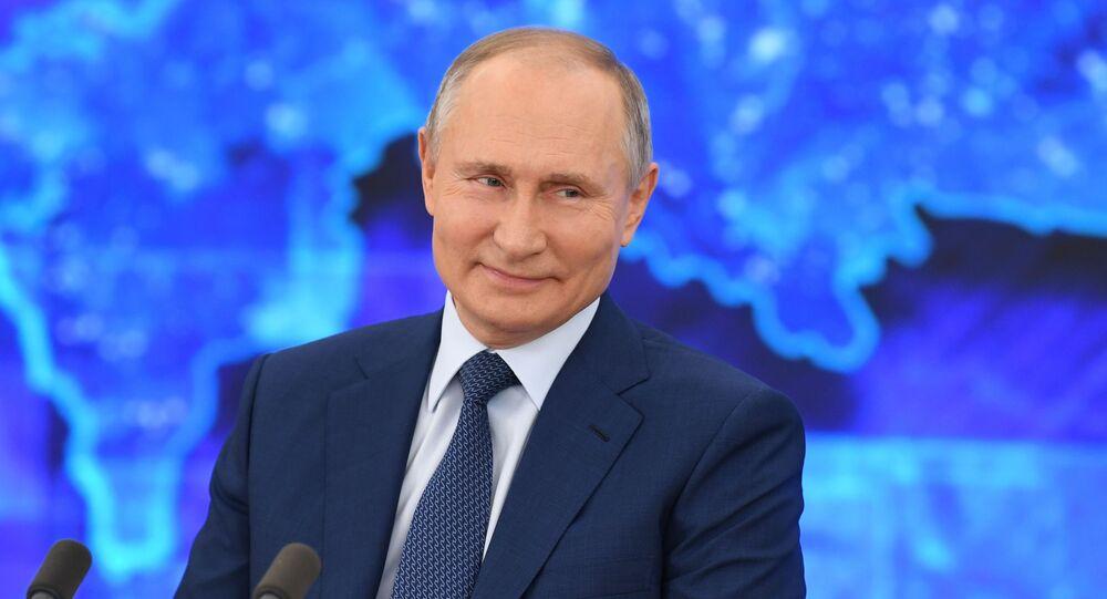 Doroczna konferencja prasowa prezydenta Rosji Władimira Putina
