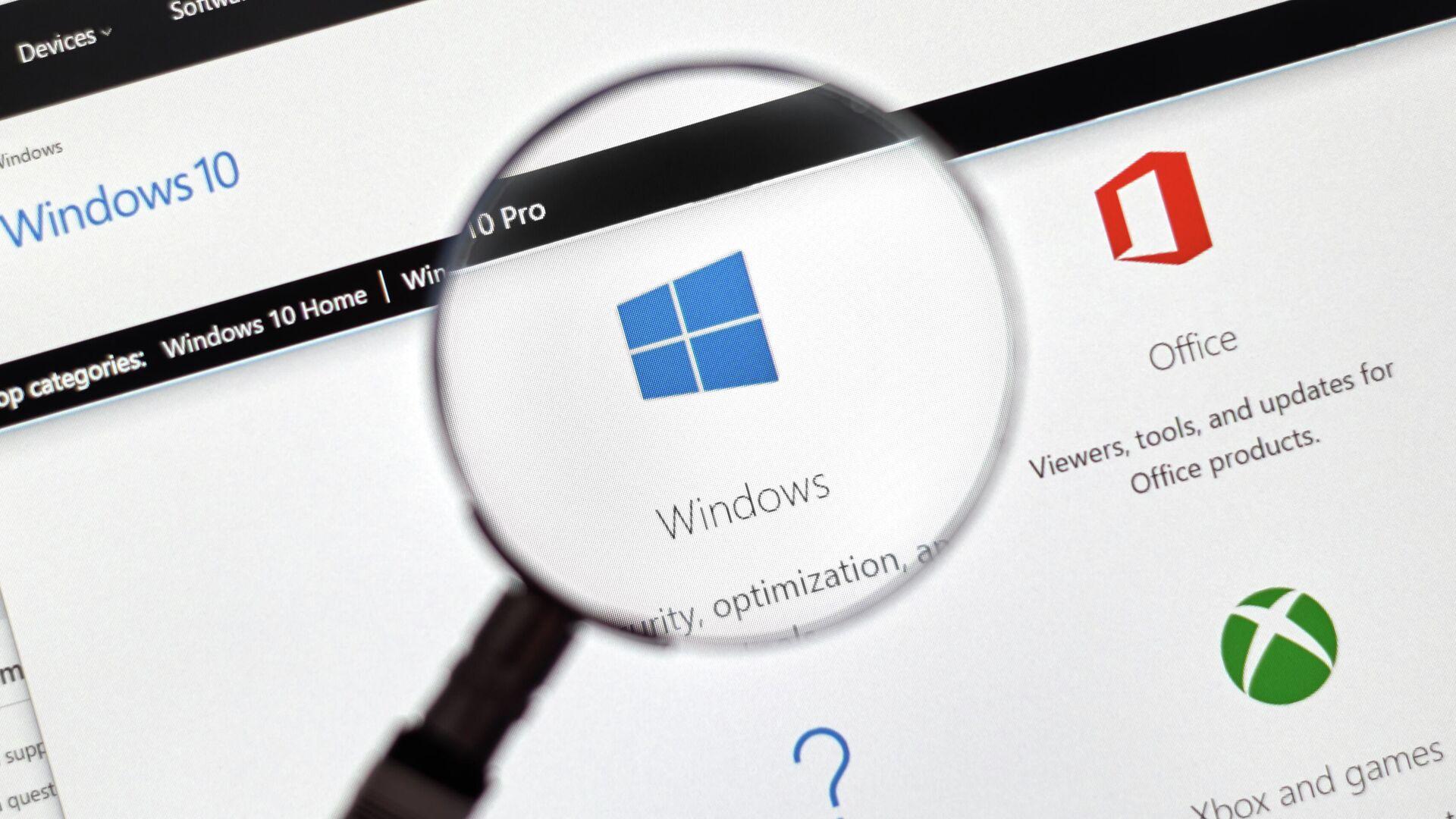 System operacyjny Microsoft Windows 10 - Sputnik Polska, 1920, 04.02.2021