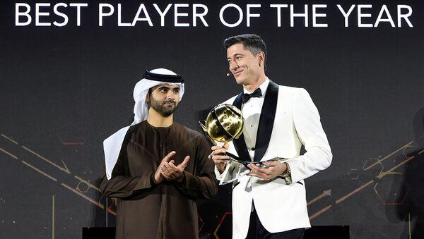 Piłkarz Robert Lewandowski na gali Globe Soccer Awards - Sputnik Polska