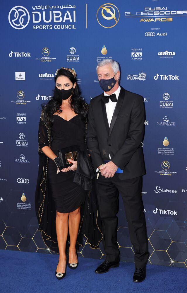 Ian Rush na gali Globe Soccer Awards