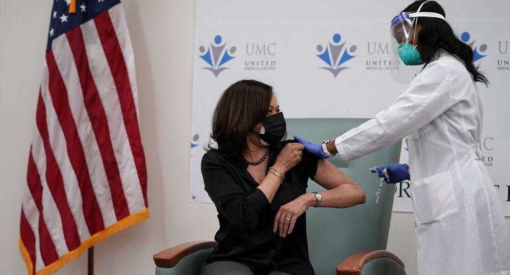 Wiceprezydent elekt USA Kamala Harris otrzymała szczepionkę przeciwko koronawirusowi.