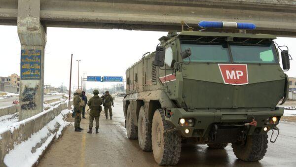 Samochód pancerny Tajfun-K Rosyjskiej Żandarmerii Wojskowej w prowincji Idlib - Sputnik Polska