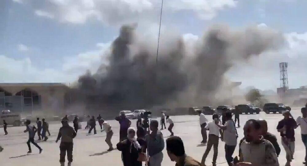 Eksplozja na lotnisku w Adenie w Jemenie.