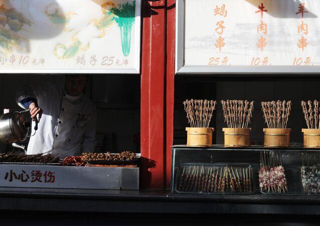 Bazar z jedzeniem w Pekinie