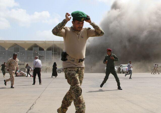 Eksplozje na lotnisku, Jemen