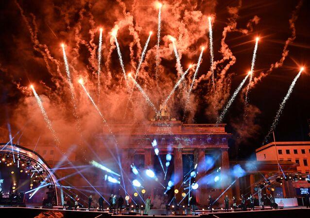 Fajerwerki z okazji Nowego Roku 2021 w Berlinie