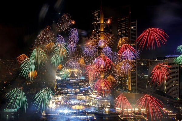 Fajerwerki z okazji Nowego Roku 2021 w Tajlandii - Sputnik Polska