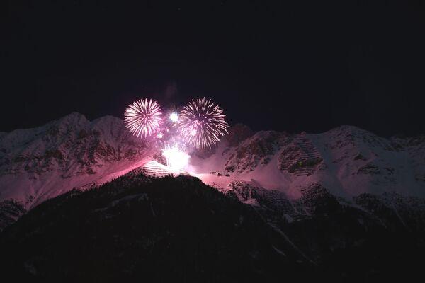 Fajerwerki z okazji Nowego Roku 2021 w Austrii - Sputnik Polska