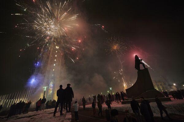 Fajerwerki z okazji Nowego Roku 2021 w Islandii - Sputnik Polska